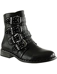 biker boots ou motard bottes et bottines chaussures femme chaussures et sacs. Black Bedroom Furniture Sets. Home Design Ideas