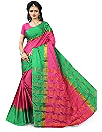Gaurangi Creation Women's Art Silk Festive Wear Sarees (SSM1005_Pink_Free Size)