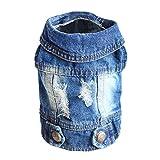 Sild Cool vintage délavé Veste en jean JumpSuit Blue Jean Vêtements pour petit chien animal domestique/6Styles '