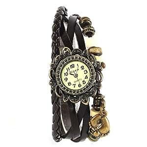Yesurprise Fashion Weave WRAP Around Leather Bracelet Woman Wrist Watch Graduation Party Gift #4