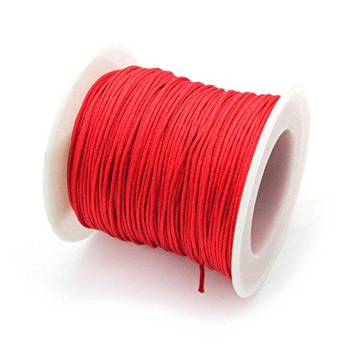 RUBY- Hilo de macramé 1.0 mm 45 metros Rojo