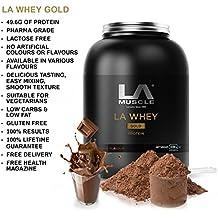 LA Muscle LA Whey Gold 100% lactosérum pur supplément de protéines en poudre, eau à la bouche Saveurs; Prix protéine Gagner, Elu meilleur Protein par le magazine de la santé des hommes, comme on le voit à la télévision, 100% naturel, sans additifs, sans gluten et sans blé, protéine 49g par LOW sert-ULTRA EN FAT & SUGAR ~ Spécial Amazon Prix - Acheter maintenant Avant Prix aller sauvegarder!! (CHOCOLAT 908g)