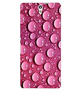 ColourCraft Beautiful Water Drops Design Back Case Cover for SONY XPERIA C5 ULTRA DUAL