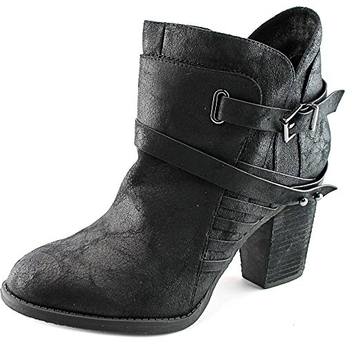 Not Rated Whip Rund Kunstleder Mode-Stiefeletten Black