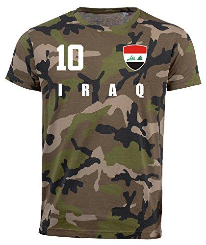 aprom Irak Camouflage T-Shirt - All-10 - Trikot Army Look WM World Cup Iraq (XL)