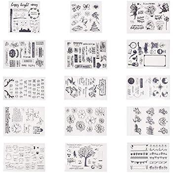 Ferien Letters Silicone trasparente timbro DIY Scrapbook goffratura Album Decor