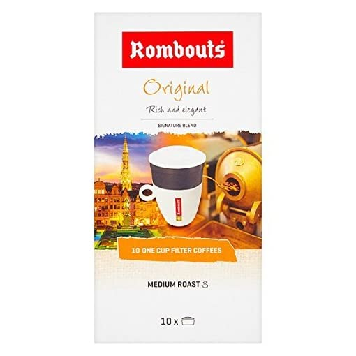 Rombouts Original Pure Ground Filter Coffee, 10×6.2g