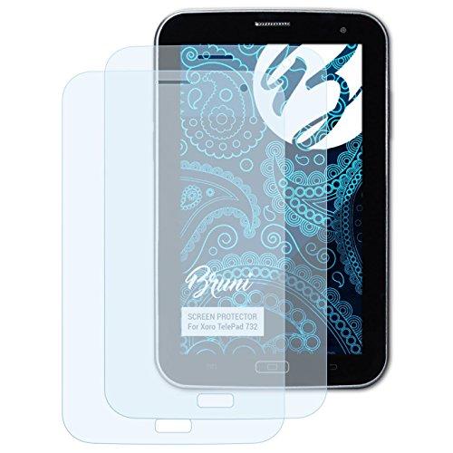 Bruni Schutzfolie für Xoro TelePad 732 Folie, glasklare Bildschirmschutzfolie (2X)