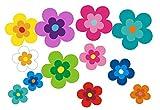 Autoaufkleber, Blumendesign: Mini 15-Set 5-26 Stück - bunt gemischt!