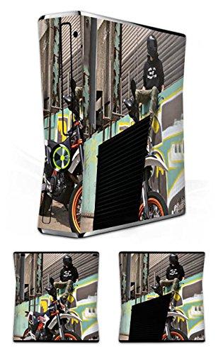 Microsoft XBOX Film autocollant skin en vinyle autocollant Blackout de moto Black Out