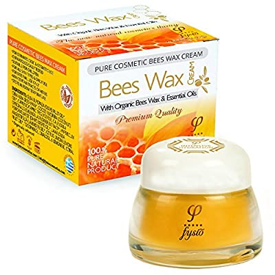 Natural Moisturiser for Dry Skin - Organic Beeswax Cream with Olive Oil and Essential Oils - Moisturizes and Repairs Hands, Feet, Body, Elbows and Knees (50ml / 1.7 fl oz)