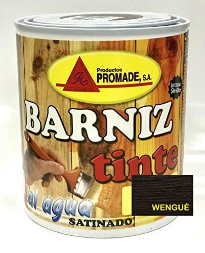 PROMADE - Barniz tinte satinado agua 750 ml Wengué