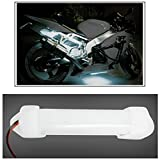 Leebo 1Pc 10Cm Neon Bike Light White ( Free 1 Pair 5 SMD Parking Led White) For Harley Davidson DYNA
