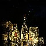 Ledgle Botella de Luces Corcho de Vino Cadena de Luz 15 LED 29,5 Pulgadas el Alambre de Cobre Luz Estrellada de Partido y el Festival (Color Blanco, 3 Pcs LR41 Botón Pilas Incluido)