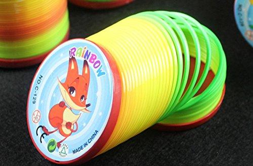 PriMI: bobina de resortes de plástico arcoíris Magic juguete ideal para rellenar calcetines para niños