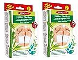Bambus Vital Pflaster Pads Detox Turmalin Entschlackung Entgiftung Fußpflaster 20 Stück
