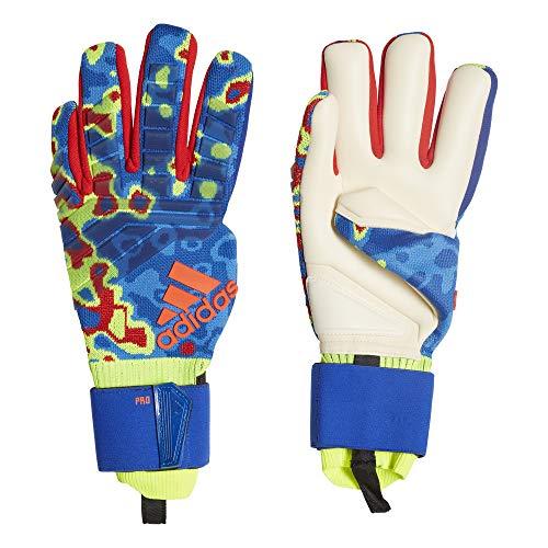 adidas Pred Pro MN Goalkeeper Gloves, Unisex Erwachsene XXXL Gelb/Blau/Rot (solar Yellow/Football Blue/Active red)