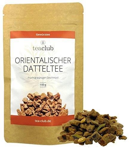 Orientalischer Datteltee Chai Tee Lose echte Datteln ohne Aromastoffe 100g, Für Chai Latte Zubereitung, fruchtig-würziger Gewürztee von TeaClub
