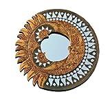 Unbekannt Feng Shui Spiegel Sonne und Mond - Sinnbild für Partnerschaft - rund ca. 40 cm
