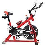 [Sponsored]TELEbrands-HBN Fitness Spin Bike (RED); Exercise Cycle For Home Gym; 8kg Flywheel; Indoor Cycle; Trainer Fitness; Spin Bike (Imported)