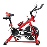 TELEbrands-HBN Fitness Spin Bike (RED); Exercise Cycle for Home Gym; 8kg Flywheel; Indoor