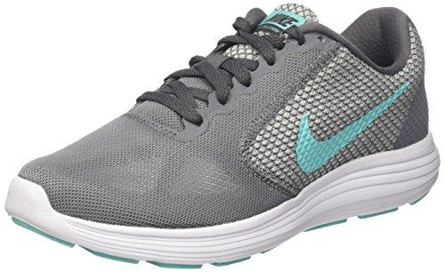Nike Damen Revolution 3 Laufschuhe, Grau (Cool Aurora Green-Dark Grey White), 40 EU - Womens Revolution