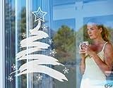 Fenstersticker No. SF838XMas Tree–Glas Fenster Film selbstklebend | Milchglas Film 5Farben Fenster Folie selbstklebend Sichtschutz Milchglas Badezimmer Farbe: frosted, Maße: 73cm x 60cm