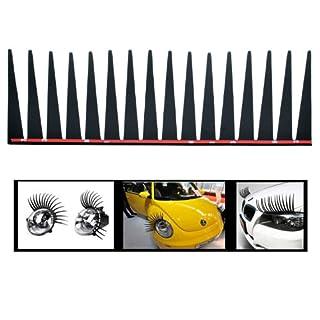 Incutex 2er Set Scheinwerfer Wimpern Auto Wimpern für alle Autos Make-up für die Scheinwerfer