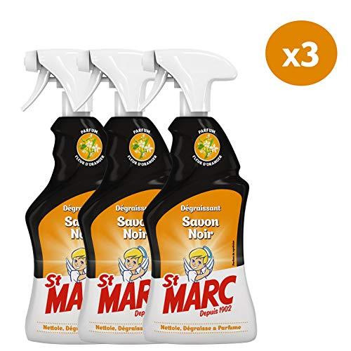 St Marc Pistolet Spray Nettoyant Dégraissant Multi-Usages Parfum Fleur d'Oranger 500 ml - Lot de 3