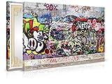 XXL-Tapeten Leinwandbild Urban Graffiti - Fertig Aufgespannt - Gemälde, Kunstdruck, Wandbild, Keilrahmen, Bild auf Leinwand von Trendwände - Format: 60x40cm, Standard: Polyester-Leinwand 2cm Rahmen