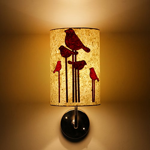 Abstract Bird White and Red Modern Decorative Wall Lamp