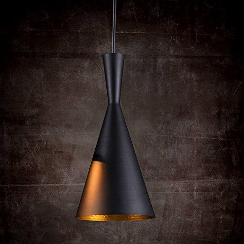 Retro Design Hängeleuchte esstisch Pendellampe schwarzen Schirm Pendelleuchte Hängelampe
