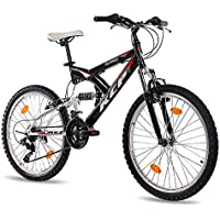 "KCP 24"" MOUNTAIN BIKE Youth Kids Bike PANTHERA 18 speed Shimano white black - (24 inch)"