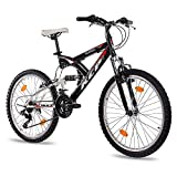 KCP 24' VTT VÈLO ENFANT JUNIOR FILLE GARCON PANTHERA FSF SUSPENDU 18 Vitesses...