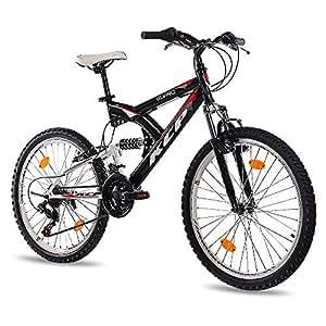 """24"""" KCP MOUNTAIN BIKE Youth Kids Bike PANTHERA 18 speed Shimano white black - (24 inch)"""