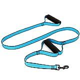 SXELODIE Zwei Eva-Griff-Haustier-Leine-Hundeleine Nylonmaterial-Großer und Mittlerer Hunde-Spezieller Ausbildungshund-Hund 183Cm (Ungefähr 72.05In),Blue