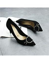 8295ed21711ede Yukun Schuhe mit hohen Absätzen 5 cm Mit High Heels Herbst Pu Mode Weinrot  Spitz Kleine Schuhe Weibliche Katze Mit Einzelnen Schuhen