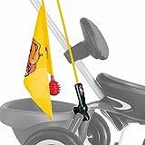 Puky SW 2 Kinder Sicherheitswimpel für Dreiräder und Go Karts gelb