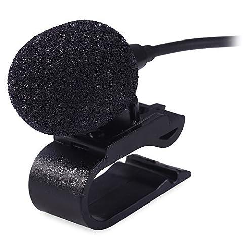 3.5mm microphone externe Mic pour radio DVD de voiture pour ordinateur portable Lecteur stéréo Autoradio câble