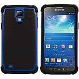 kwmobile Hybrid Outdoor H�lle f�r Samsung Galaxy S4 Active - Dual TPU Silikon Hard Case Handy Hard Cover in Blau Schwarz