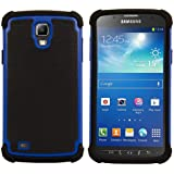 kwmobile Hybrid Outdoor Hülle für Samsung Galaxy S4 Active - Dual TPU Silikon Hard Case Handy Hard Cover in Blau Schwarz