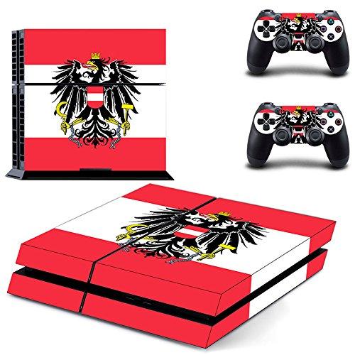 Playstation 4 + 2 Controller Aufkleber Schutzfolie Set - Österreich (1)