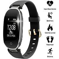 Fitness Tracker pour les femmes Moniteur de fréquence cardiaque Étape CounterIP67 Imperméable Bluetooth Podomètre Bracelet avec Moniteur de Sommeil pour Android et IOS Smartphone, iPhone, Samsung par WOWGO