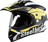 #6: Steel bird helmet motocross SB-42 bang black with yellow