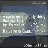 Ein Auto ist nicht nur, was zurückgenommen werden kann von IT 'S maker-car Fenster sticker-road safety-fun, Gott, Creator, selbstklebendes Vinyl Zeichen für LKW, Van, Fahrzeug