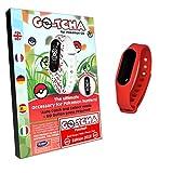 Pulsera táctil LED Go-Tcha para Pokémon Go Versión 2018 Edición Pokeball roja (alternativa para...