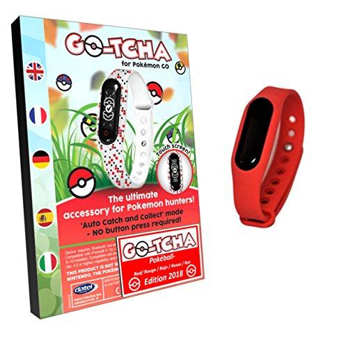 Pulsera táctil LED Go Tcha para Pokémon Go Versión 2018 Edición Pokeball roja (alternativa para Go Plus).