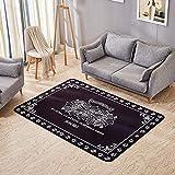 CarPET_ European Retro Luxury Rug_ mat_ einfach verdickt Mode Trendige Wohnzimmer Couchtisch Esszimmer Schlafzimmer Nacht rechteckige Decke Klassische Größe 5 * 7 ft