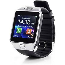GT® DZ09Bluetooth Smart Watch orologio da polso Bluetooth Android IOS fotocamera SIM Sport argento argento, nero