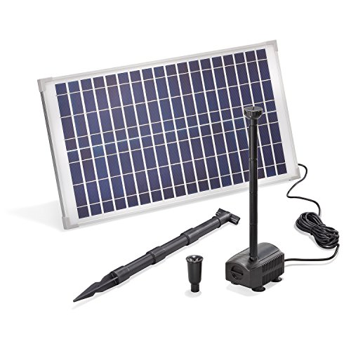 Solar Teichpumpe 25 Watt Solarmodul 875 l/h Förderleistung 2,4 m Förderhöhe esotec Professional Produktserie Komplettset Springbrunnen Gartenteich, 101913 Watt-solar-panel